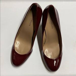 Ann Taylor Patent pumps maroon red 5.5 new in box